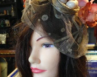 vintage funky lady's hat