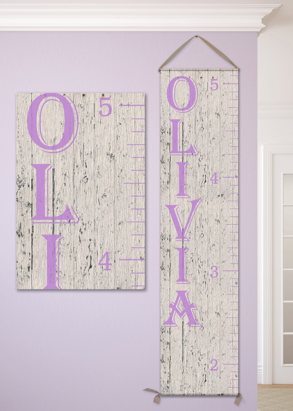 Personalized growth chart ruler canvas height chart ruler