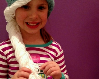Snow Queen Hat with Braid