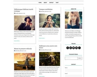 "Premade Blogger Template Blog Design - Responsive and Customizable - ""Addison Smith""  - Instant Digital Download"