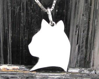 Cat Head Silhouette Pendant #9