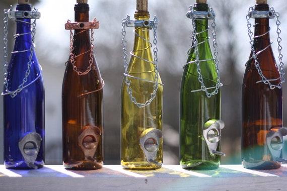 Glass Wine Bottle Bird Feeder - Bird Houses - Gift for Mom - Outdoor - Patio - Handmade Wine Bottle Decor - Gifts for Women - Fall Decor