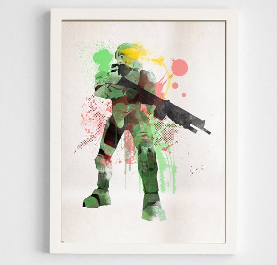 Halo Master Chief Room Decor