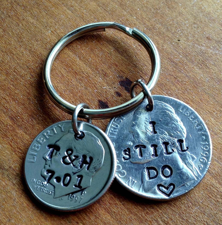 15th Wedding Anniversary Gift Ideas For Men: 15 Year Anniversary Keychain/15th Anniversary Gifts For Men/