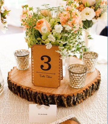 Rustic Wood Centerpiece Wooden Wedding