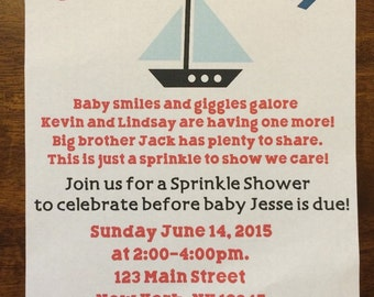 Ahoy It's A Boy Invitation