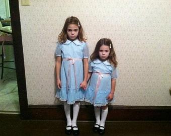 Custom Made KIDS The Shining Grady Twins Halloween Costume Set Dress