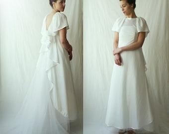 Back ruffled taffetas  wear on dress