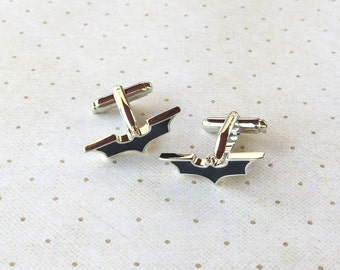 Batman Cufflinks The Dark Knight Cuff Links in Silver