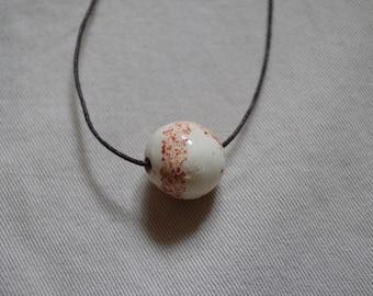 Speckled Ceramic Necklace