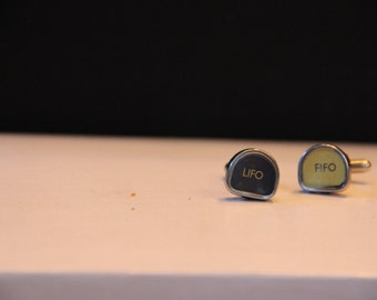 LIFO/FIFO typewriter key cufflinks
