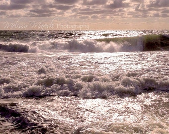Photograph: Beach Waves; Ocean; Ocean City, MD; Sunshine; Sand