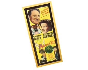 1949 Framed Movie Poster Hepburn & Tracy Adams Rib | Vintage Wall Decor | Home Theatre Wall Hanging | Modern Farmhouse Style