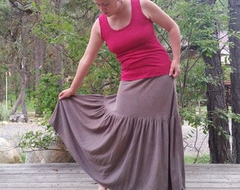 Canyon maxi skirt (hemp/organic cotton)