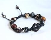 Men's Adjustable Tribal Bracelet ~ Macrame Hemp Jewelry