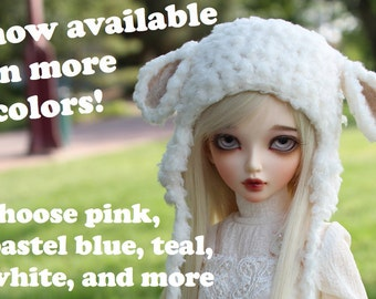 Choose Your Color Lamb Hat for MSD BJD, 1/4 Dollfie, Minifee
