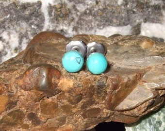 5mm Real Turquoise Titanium Ear Posts Backings Friendship Studs Post Earrings Earings Hypo Allergenic