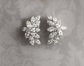 Vintage Style Bridal Earrings, Deco earrings, Crystal Wedding earrings, 1920s Earrings, Hollywood Wedding earrings - 'KASIA'
