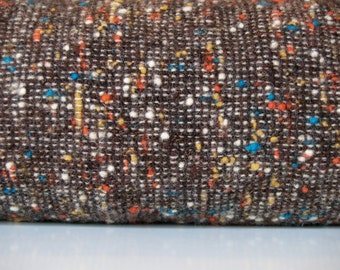 1.83 yards VTG fabric: wool, brown speckled