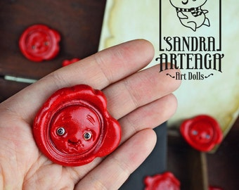 EXTRA SALE! Wax seal creatures - guardian of secrets letter set envelope paper sheets sealing wax magical sculpt fantasy lacre dolls writing
