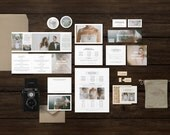 Wedding Photographer Marketing Set - Minimal Marketing & Photo Cards for Photographers - Branding Templates