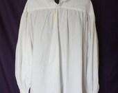 Ruffled poet, pirate shirt