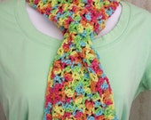 Crocheted Rainbow Sherbert Scarf/Women,Teens by AngelAndFairyDesigns on Etsy.com