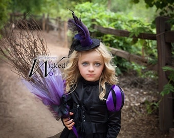 Witch Broom Costume Accessory, Witch Broomstick, Halloween costume for Wicked Witch of the West,Oz Costume Accessory for Halloween girls