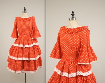 1960s polka dot dress • vintage 60s dress • cotton party dress