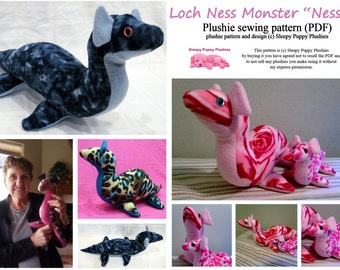 "Loch Ness Monster ""Nessie""  Plushie pattern *intermediate*"
