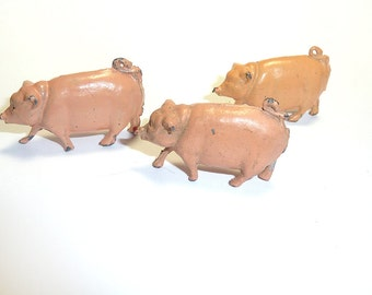 Toy PIGS, SHEEP or BUNNIES . . . cast animals for terrariums, dioramas, train models, etc.