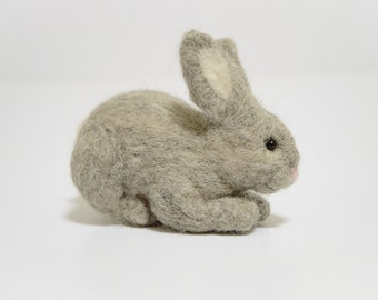 Felted Rabbit - Bunny Rabbit Miniature - Needle Felted Animal - Small Felt Animal - Felt Rabbit