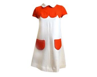 Mod dress soft wool 60s women dress winter reproduction dress custom made
