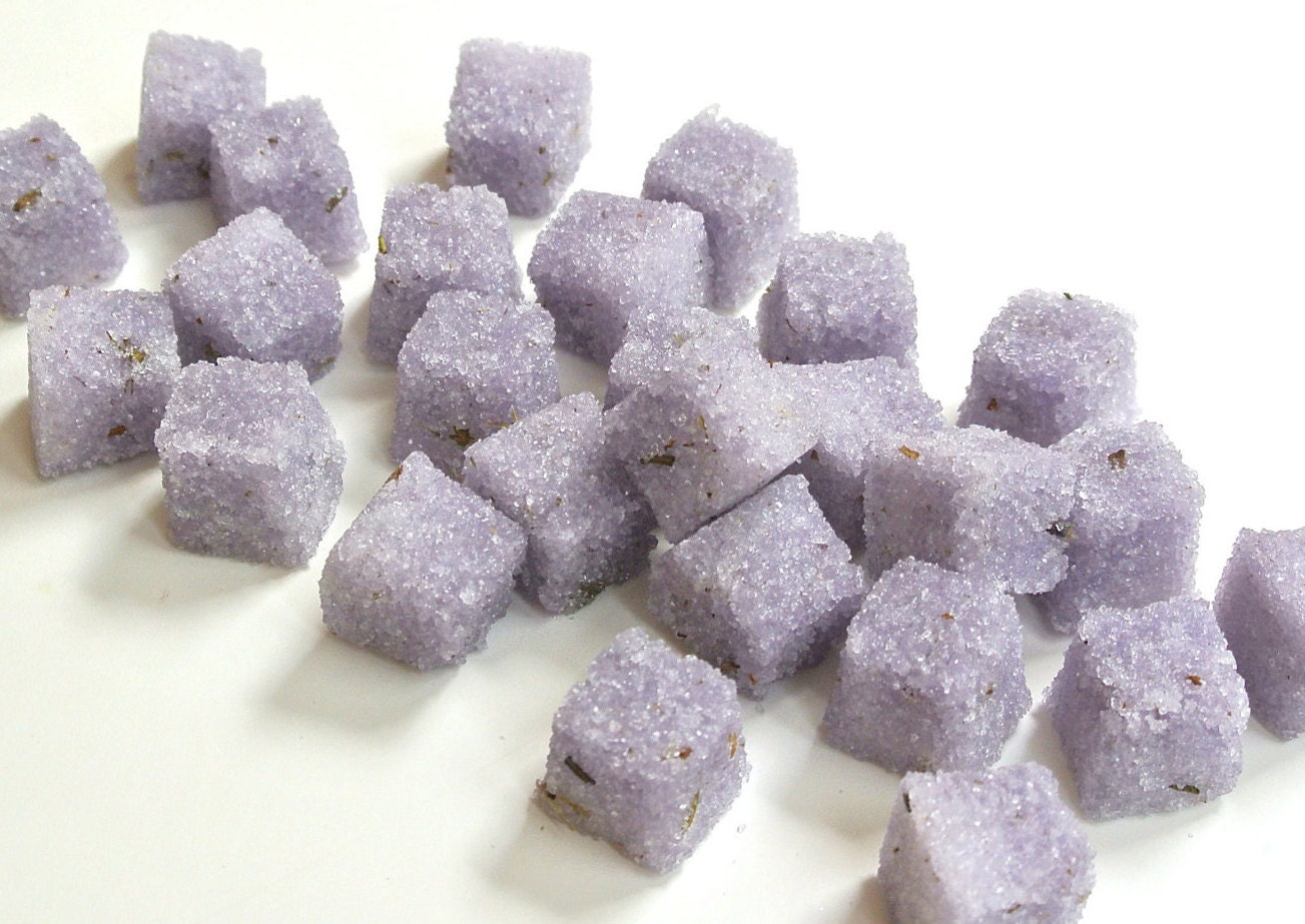 Lavender Sugar Cubes Champagne Toasts Tea Parties Organic