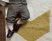 Knitting pattern, chevron baby blanket, geometric, modern, hand knit