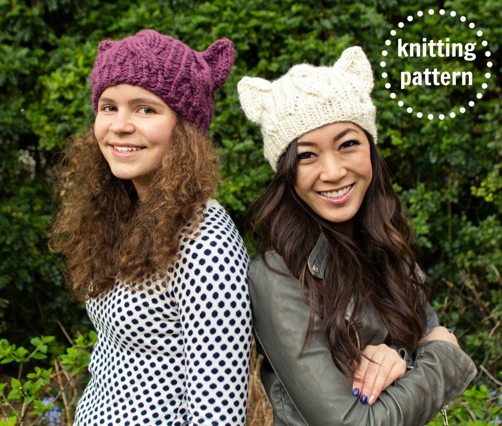 cat ear hat knitting pattern knitting hat outlet