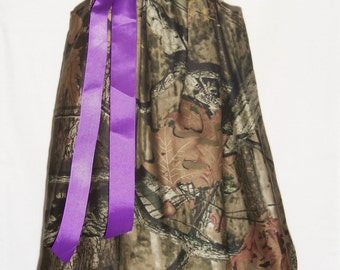 Camo Ruffle Dress / Purple / Mossy Oak / Flower Girl / Wedding / Newborn / Infant / Baby / Girl / Toddler / Custom Boutique Clothing