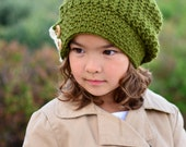 CROCHET PATTERN - Warm Wishes Slouchy - a slouchy hat pattern with ruffle in 3 sizes (Toddler, Child, Adult) - Instant PDF Download