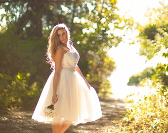 Short Tulle Wedding Dress Vintage inspired by PureMagnoliaCouture
