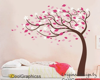 vinyl wall decals trees wall sticker wall decal girl baby nursery wall decal bedroom children wall decor - Blossom Tree