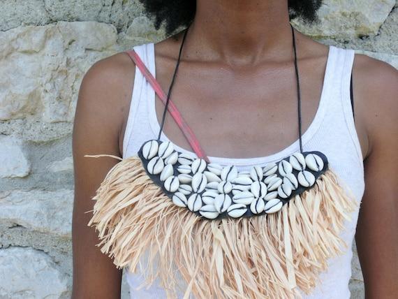 Gayima Fringe Bib Necklace