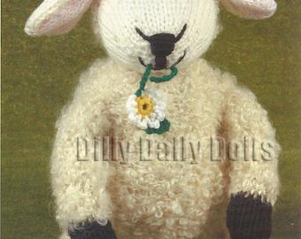 Toy lamb knitting pattern