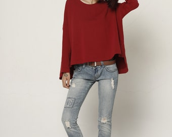 Lagenlook Fashionable Cotton Top for Women - NC524