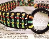 BDSM Collar, Rasta Hemp Collar, Eco Friendly Collar, Submissive Collar, Bondage Collar, Slave Collar, Hemp Fetish Collar, Kinky Collar