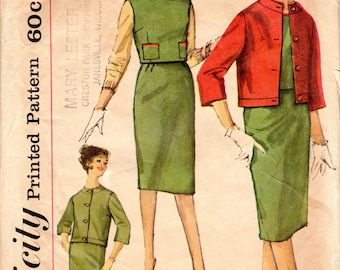 "1960s Women's Skirt, Top & Jacket Pattern - Size 14, Bust 34"" - Simplicity 3633"