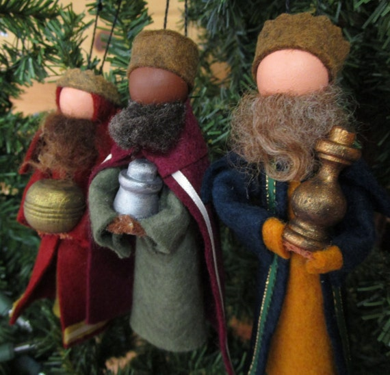 Handmade Christmas Ornament Clothespin Three Wise Men
