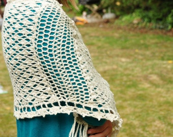 Vintage Lace Shawl - Instant Download Crochet Pattern