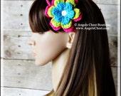 Crochet Flower Three Strands Headband - Handmade by Angel Chest Boutique