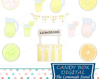 Lemonade Stand Clipart, Summer Clip Art - Commercial Use OK