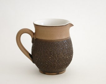 Vintage Denby Cotswold Creamer - Denby England Mid Century Stoneware - Denby Cotswold Cream Pitcher - Textured Brown Pottery - Denby England